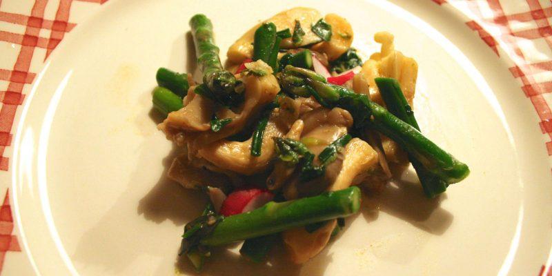 asperges met oesterzwammen